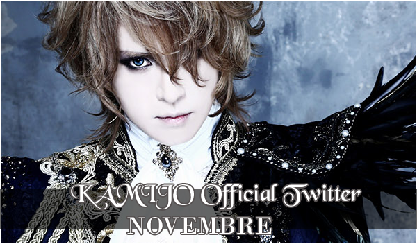 KAMIJO Official Twitter – Novembre 2015